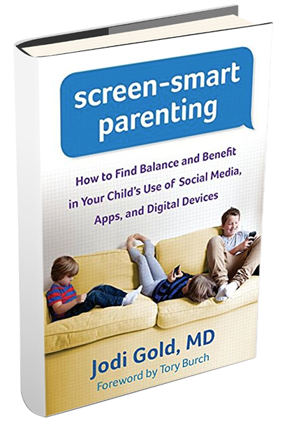 book called screen-smart parenting by Jodi Gold