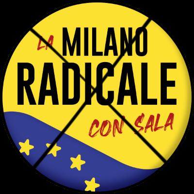 Simbolo La Milano Radicale barrato