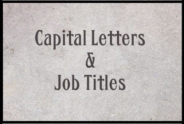 Job Titles and Capital Letters